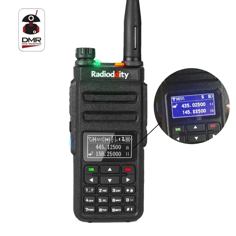 Radioddity GD-77BB Nouvel Écran Dual Band Dual Time Slot DMR Ham Two way Radio Numérique Radios Inversé Affichage Talkie Walkie