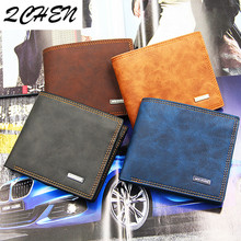 Men's Wallets Fashion Mens Scrub Wallet with Coin Bag no Zipper Money Purses Dollar Slim Purse Money Clip Buckle wholesale 425