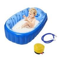 Plastic Baby Tub Swimming Pool Bathtub Portable Inflatable Bath Tub Child Tub Mat Shower Keep Warm Winner Kids Folding Bathtub