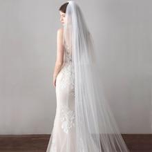 Long Veil 3 Meter Cathedral Wedding Veils Cut Edge Bridal Veil with Comb Wedding Accessories Bride Mantilla Wedding Veil