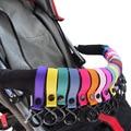 2PCS New Plastic Baby Stroller Accessories Pram 2 Hooks Pushchair Car Hanger Hanging Strap Random Color High Quality