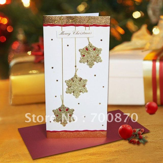 Promotional freeshipping mix 28pcspack 4 designs golden foil 3d promotional freeshipping mix 28pcspack 4 designs golden foil 3d handmade christmas greeting card in m4hsunfo
