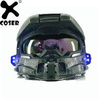 XCOSER Halo 4 Главный шлем косплэй реквизит крутая игра Новинка и специальный шлем со светодиодной подсветкой для мужчин's реквизит для костюмов