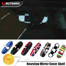 2017 Новый ~ Интерьер Автомобиля Зеркало Заднего Вида Крышка Shell Для Mini Cooper JCW F56 F55 Зеленый Англия Синий Радуга аксессуары наклейки