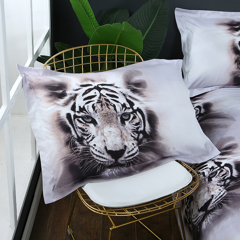 Image 3 - 3D Bedding Set Tiger Animal Duvet Cover queen size bed linen 3pcs Home Textiles-in Bedding Sets from Home & Garden