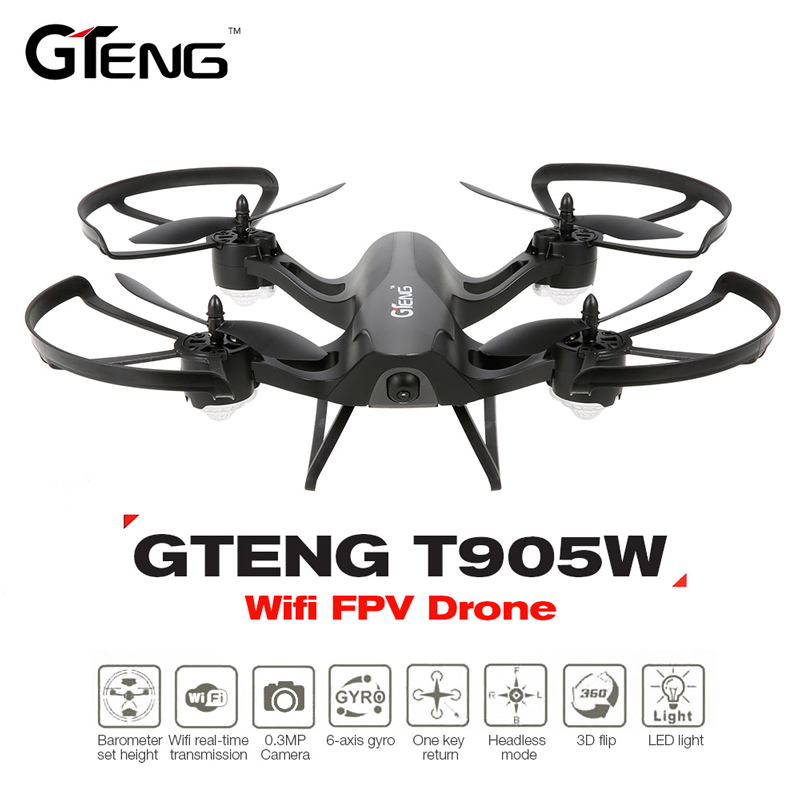 T905W Remote Control Helicopter 2.4G 4CH transmitter WiFi FPV RC Quadcopter GPS Altitude Hold T905W Helicopter HD Camera Drone 2 4g altitude hold hd camera quadcopter rc drone wifi fpv live helicopter hover new remote control helicopter children toy