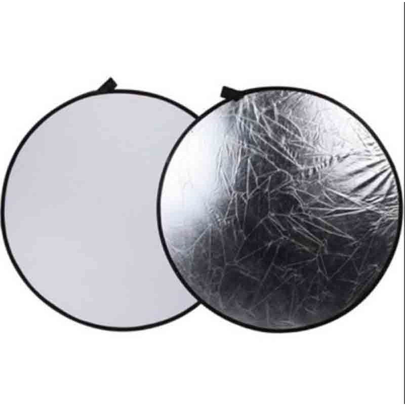 SUPON Photography 43 110cm 2 in 1 Light Mulit Silver/White Collapsible disc Reflector