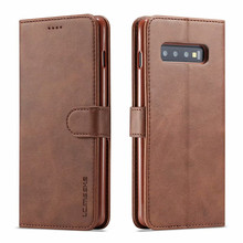 Flip Case Voor Samsung Galaxy S10 Plus Leather Luxe Cover S10E 5G A50 Wallet Kaarthouder Book Style