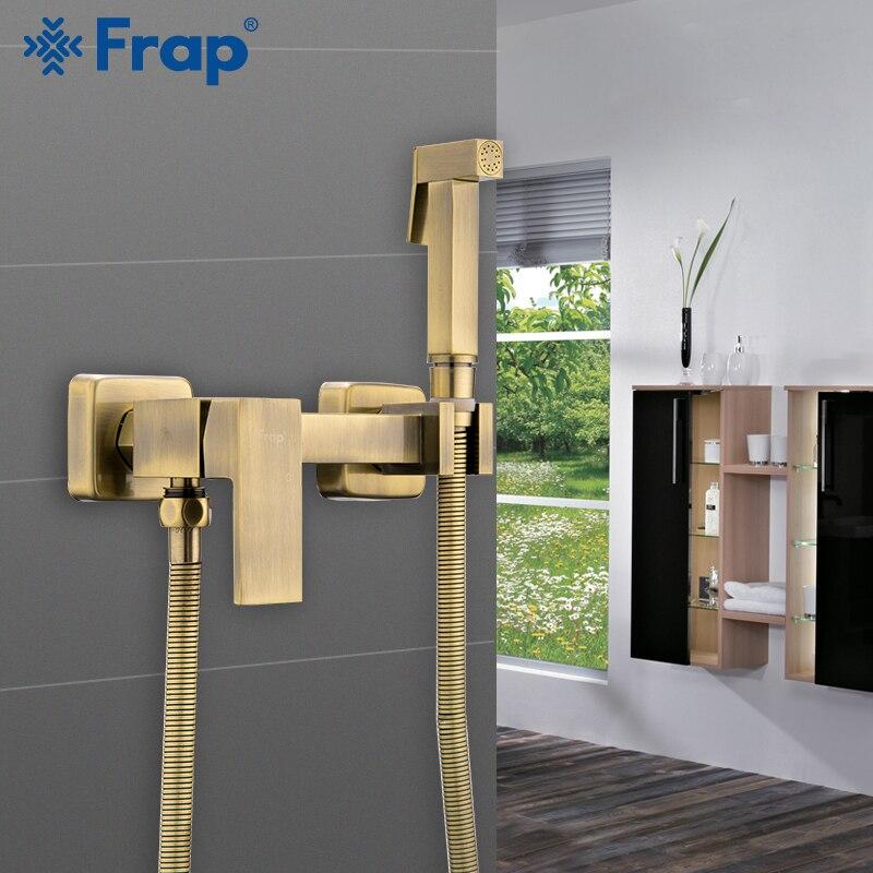 FARP Bidets nouveau bidets salle de bain robinets eau chaude et froide mélangeur pomme de douche lavage toilette robinet mural bidet pulvérisateur ensemble