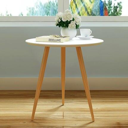 Стильный мелкая бытовая три ноги круглый столик мобильный малый журнальный столик обеденный стол для отдыха угол журнальный столик просто... ...
