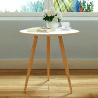 Stylish Small Household Three Legs Round Side Table Mobile Small Coffee Table Dining Table Leisure Angle