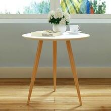 Стильный малый бытовой три ноги круглый столик мобильный небольшой журнальный столик обеденный стол досуг угол журнальный столик простой
