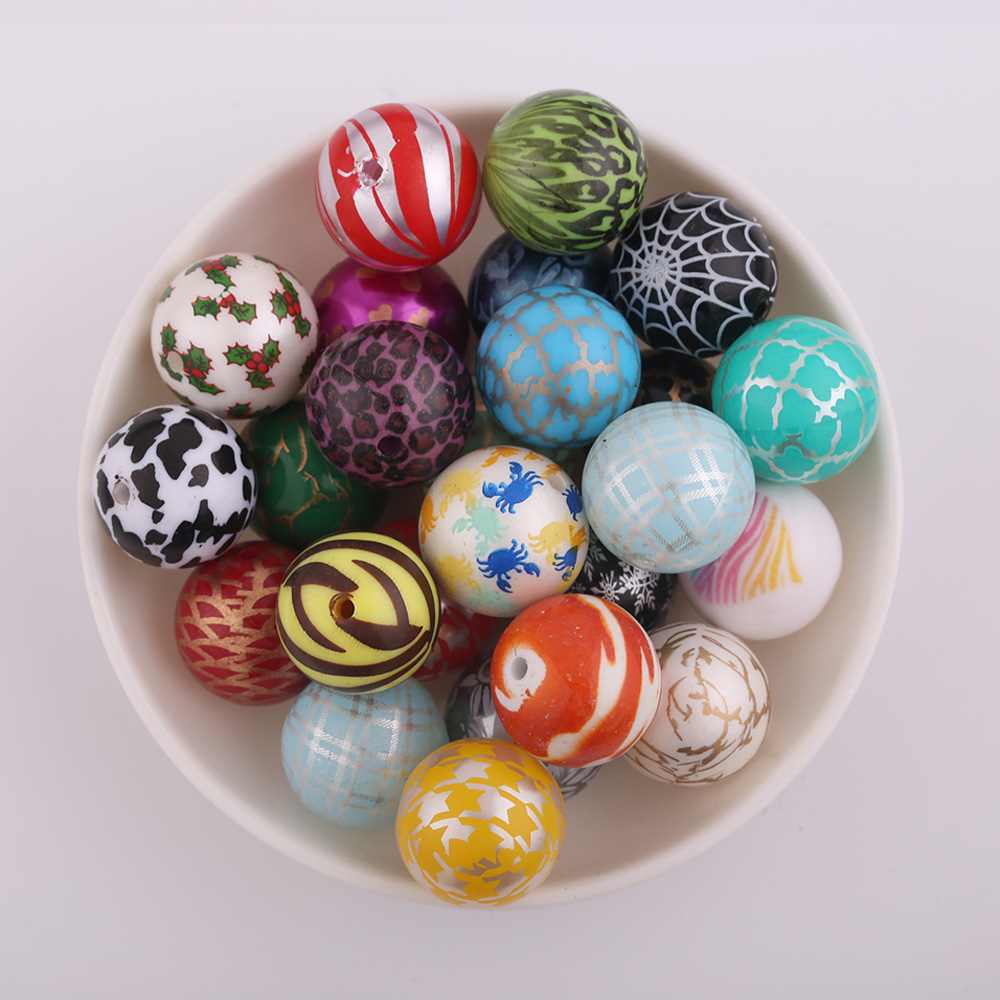 Promotion 20MM 100Pcs/Lot Whole Print/RANDOM Mix/Jewelry Making Beads/More Designs Available