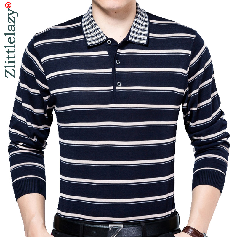 2019 long sleeve striped   polo   shirt men cotton streetwear   polos   shirts mens dress tee shirt poloshirt camisa pol clothes 5267
