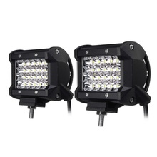 1 Pair 72W Car Fog Light IP68 Waterproof Auto LED Lamps For Cars Bulbs White 24PCS Chips Spotlight