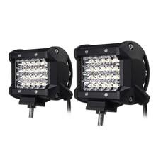1 Pair 72W Car Fog Light IP68 Waterproof Auto LED Lamps For Cars LED Light Bulbs White 24PCS LED Chips Spotlight