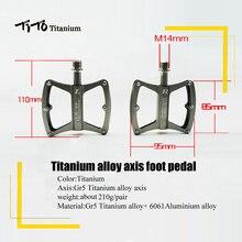 Тито Ultra Light Titanium оси педали МТВ дорожный мотоцикл Titanium сплав оси педали Велоспорт Платформа ЧПУ 1 пара