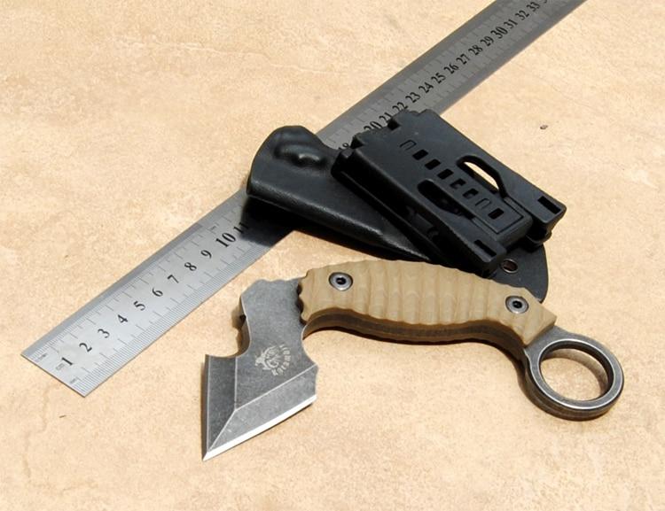2018 nouveau couteau de chasse Karambit CS aller contre-grève combat survie couteau tactique griffe Camping couteaux outils couteau droit