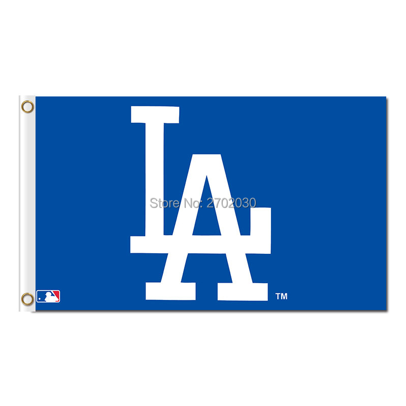 LA Design Los Angeles Dodgers Flagge World Series Champions Baseball-Fans Team Banner Fahnen 3x5ft Blaue Fahne