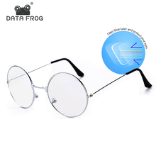 Metal Anti-Blue Light Computer Goggles Women&Mens Round Vintage Rays Protection Mobile Phone Game Frame Glasses