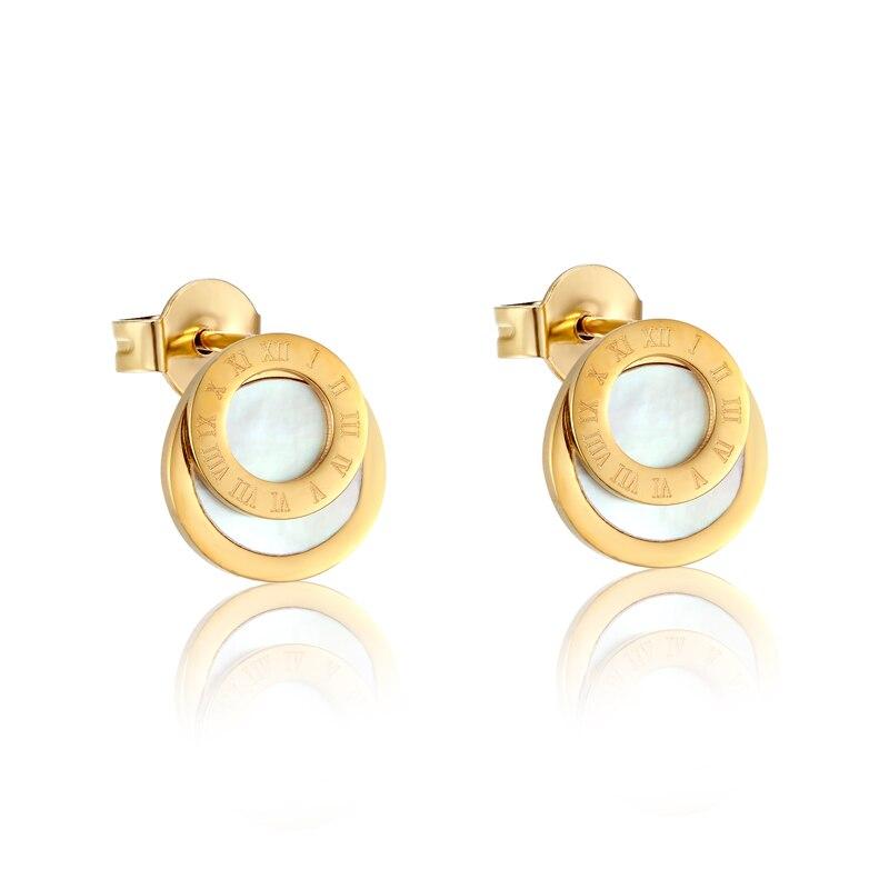 New Style Beautiful White Shells Stud Earrings Fashion Famous Brand Jewelry Wedding Party Earrings For Women Lady Men Earrings
