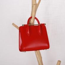 New fashion ladies personality leather contrast color handbags cowhide metal chain chain shoulder diagonal package зеркало evoform exclusive g floor 200х80 виньетка античная латунь
