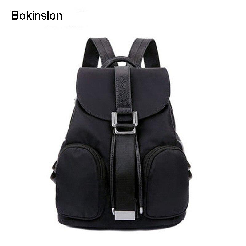 Bokinslon Роскошные Для женщин рюкзак Повседневное Водонепроницаемый небольшой свежий путешествия рюкзак Для женщин мода нейлоновая сумка для...
