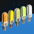Newest T10 W5W LED car interior light Silica Gel cob marker lamp 12V 194 501 bulb wedge parking dome light for lada car styling