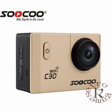 SOOCOO C30/C30R 4 k Câmera de Esportes 1080 p/60FPS HD Wi-fi Giroscópio NOVATEK96660 30 m À Prova D' Água Ação câmera