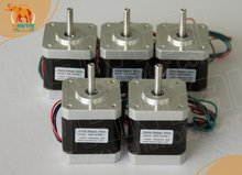 цена на Best Seller! 42BYGHW811 Nema 17 Stepper Motor 70OZ-IN,2.5A ,4-Leads, 2 phase CNC Cutting and Mill of wantai 42BYGHW811