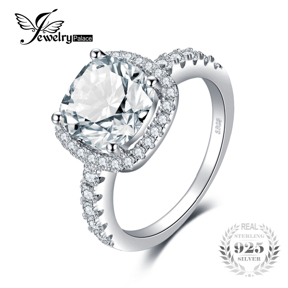 JewelryPalace Cushion 3ct Wedding Halo Solitaire
