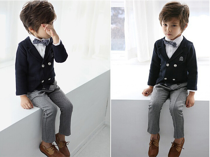 charming prince v neck western style kids blazer/casual flat