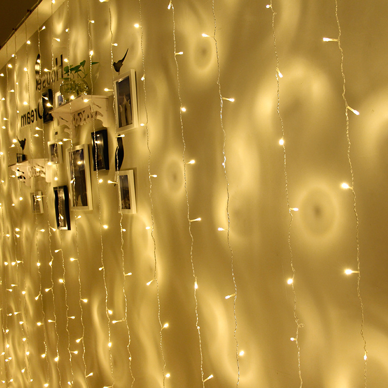 String lights Christmas outdoor decoration Drop 3m Droop 1m 3mcurtain icicle string led lights Garden Party US EU UK PLUG in LED String from Lights Lighting