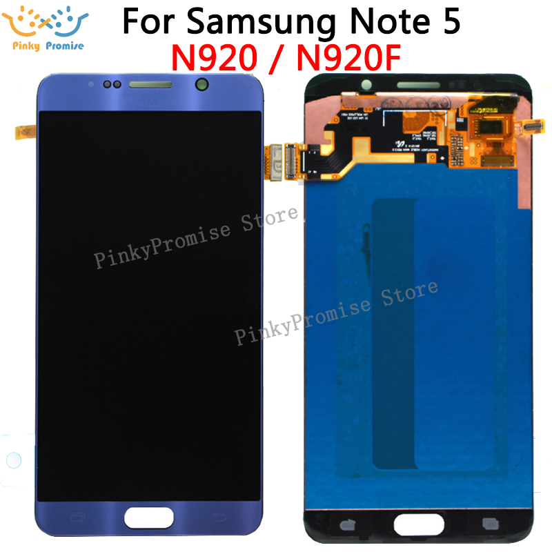5 7 For SAMSUNG NOTE 5 LCD For SAMSUNG Galaxy Note5 N920F N920 N920A With Touch