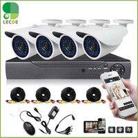 Главная видеонаблюдения Камера Системы с DVR 8 каналов + 4pcs1200TVLHD ИК всепогодный пуля Камера s + 500 ГБ HDD