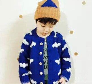 2015 зима бобо выбирает coulds мальчиков свитера детская одежда синие облака ребенок свитер джемпер детские мальчиков одежда для девочек