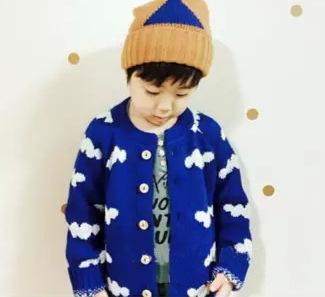 2015 inverno bobo choses coulds bebés meninos camisolas vestuário infantil nuvens azuis camisola criança cardigan bebê meninos roupas meninas