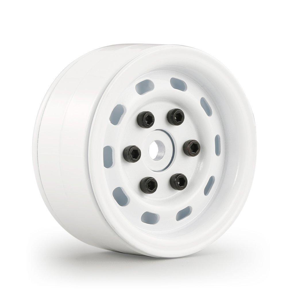4 piezas AUSTAR AX-618 1,9 pulgadas RC neumáticos Beadlock ruedas de Metal Rim Hub Set para Axial SCX10 RC4WD d90 1/10 RC coche RC Accesorios