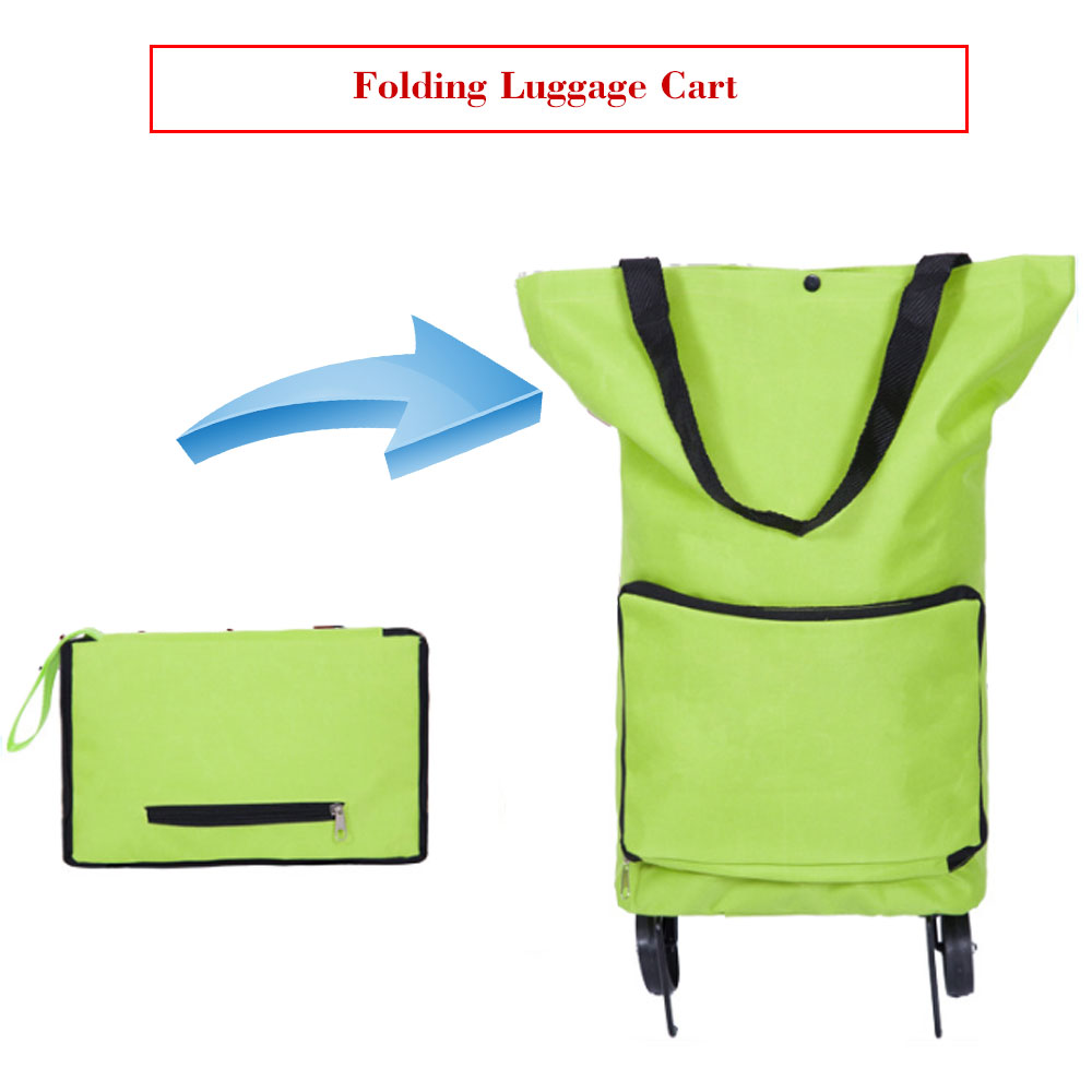 Korean Style Of The Folded Shopping Cart Fashion Of The Luxury Portable  Car Luggage Cart Folded Tug Bag