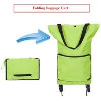 Style coréen du panier plié mode du chariot de bagages de voiture portable de luxe sac de remorqueur plié