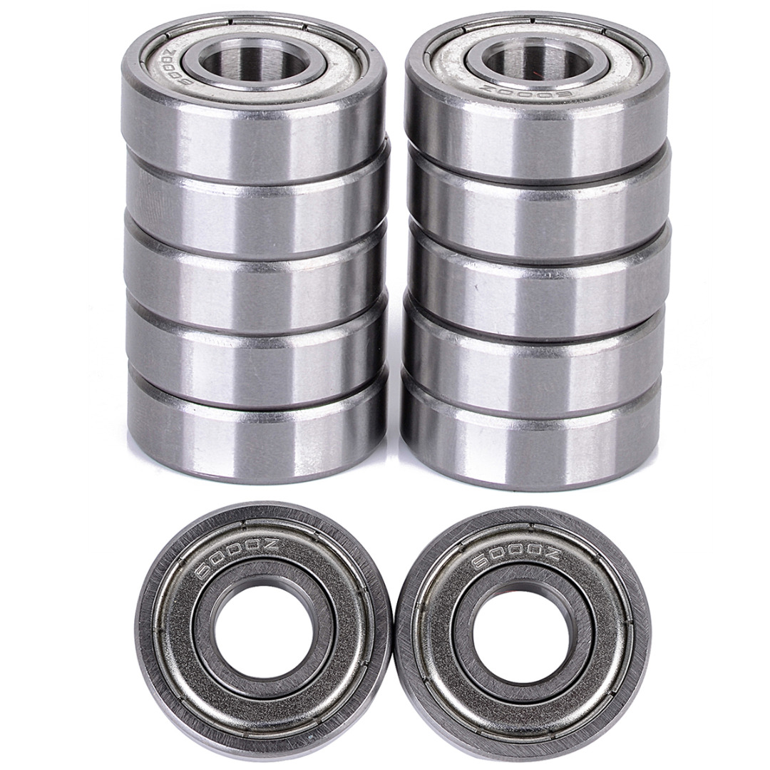 10Pcs Metal Sealed Shielded Ball Bearings 60002Z Deep Groove Bearing 8mm For 3D Printer 10pcs 5x10x4mm metal sealed shielded deep groove ball bearing mr105zz