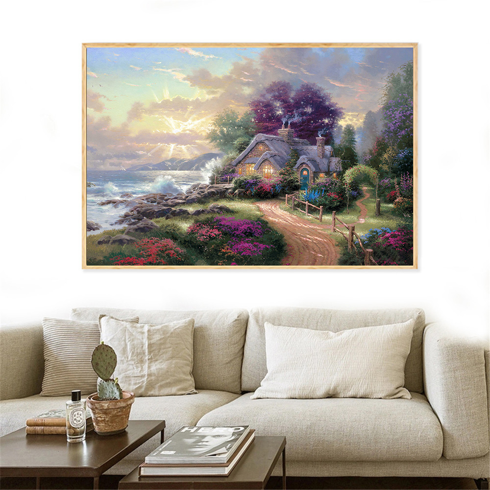 Kunst Home Living Room Wall Art Decor Night And Day Oil