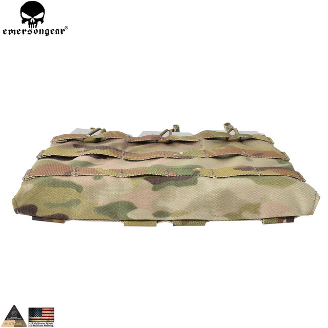EMERSONGEAR 5.56 Triple Open Top Mag Pouch Tactical Combat Gear Molle Magazine Pouch Mag Holder Multicam Coyote Brown EM6356