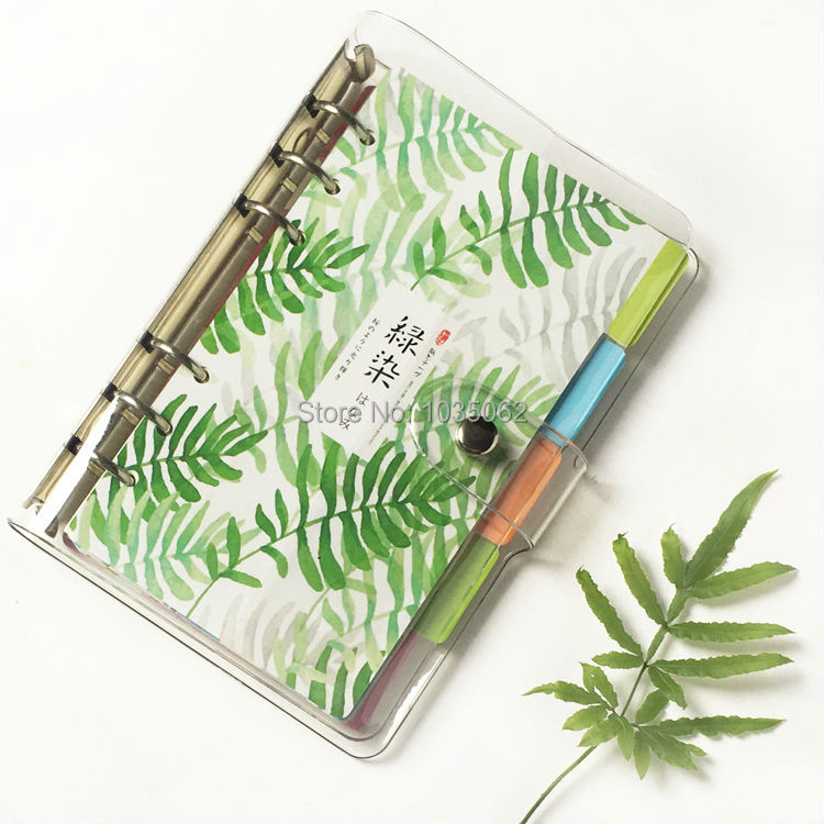 New Transparent Planner Cover A5 a6 a7 Clear Notebook Spiral Personal Bullet Journal Shell