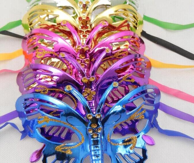 NEW Halloween mask children masquerade mask coloured drawing or pattern plating butterfly princess coloured hot selling rysunek kolorowy motyle