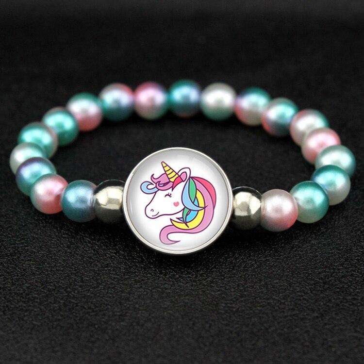 Бусины в виде единорога, браслеты 18 мм, застежка-держатель, пуговицы, купольный кабошон, фламинго, амулеты, трендовые браслеты для девочек, женщин, мальчиков, ювелирное изделие, подарок - Окраска металла: H17027