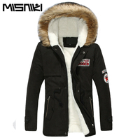 2017 Autumn Winter Jackets Mens Casual Slim Hooded Coat Parka Men Lovers Outwear Asian Size