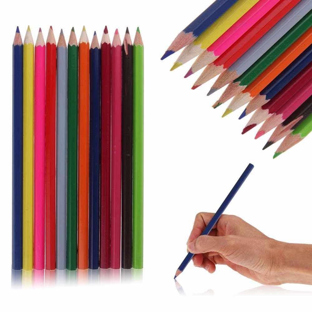 Color drawing pens for artists - New Fashion 12 Watercolour Soluable Sketching Art Drawing Colour Pencils Pens School Supplies Hot Good Quality