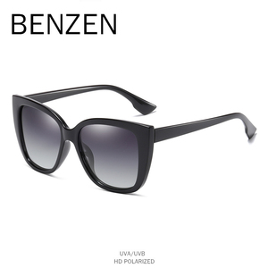 Image 3 - BENZEN Cat Eye Sunglasses Women Vintage Polarized Large Sun Glasses For Driving Retro Ladies Shades Black With Case 6601
