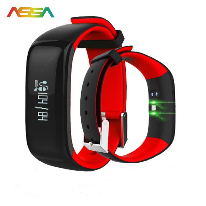 imágenes para Banda inteligente Pulso Monitor de Actividad Rastreador Podómetro Del Ritmo Cardíaco Del Bluetooth Pulsera de Fitness Salud Pulsera Inteligente Android Teléfono